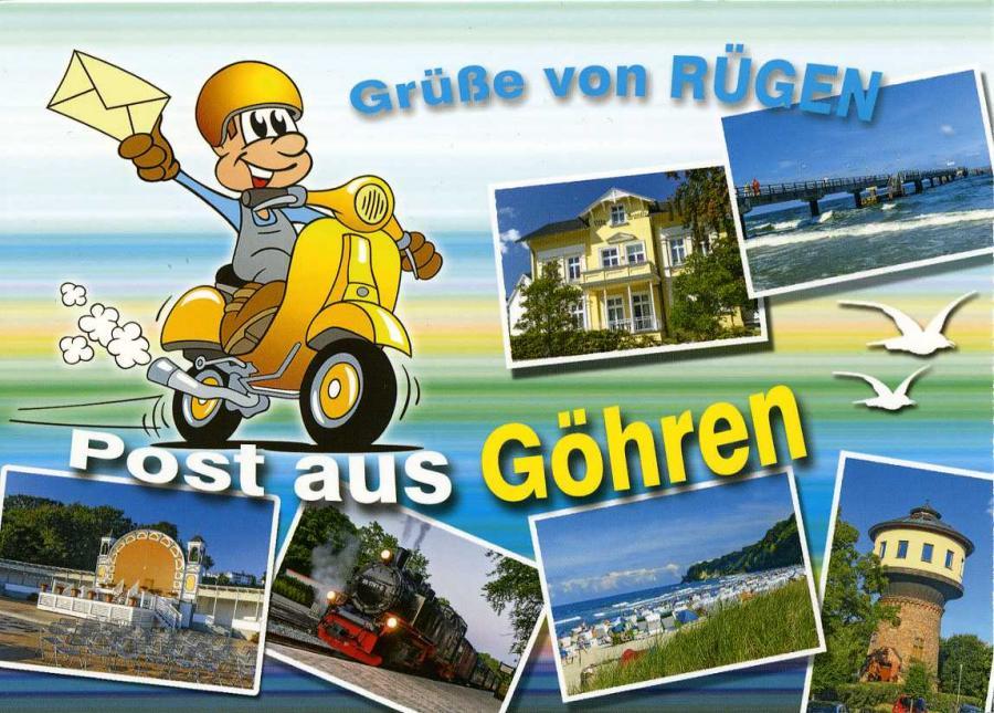 Grüße von Rügen Post aus Göhren