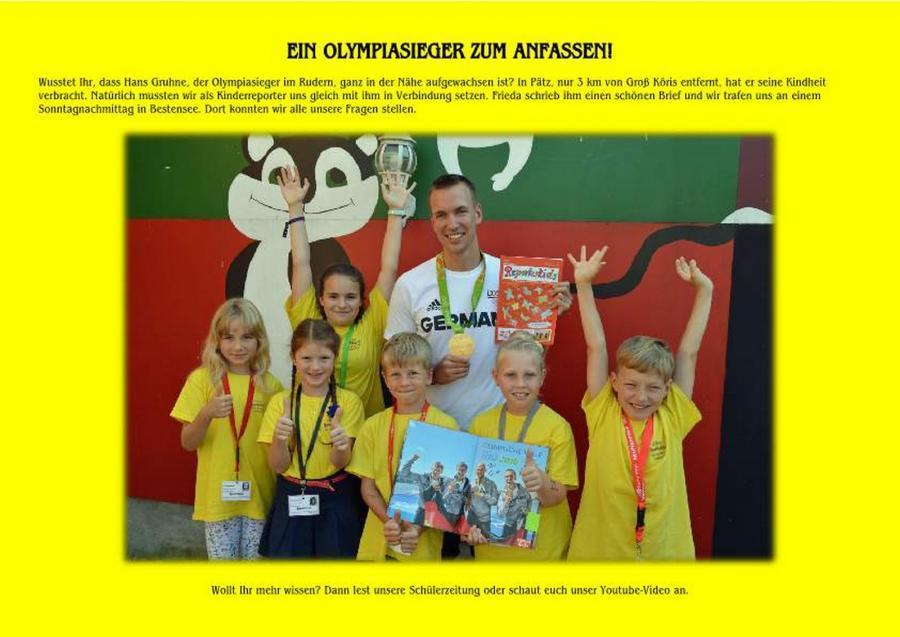 Treffen mit  Olympiasieger Hans Gruhne