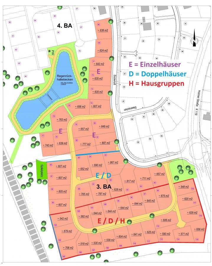 Grundstücksplan Süderwiese III. BA