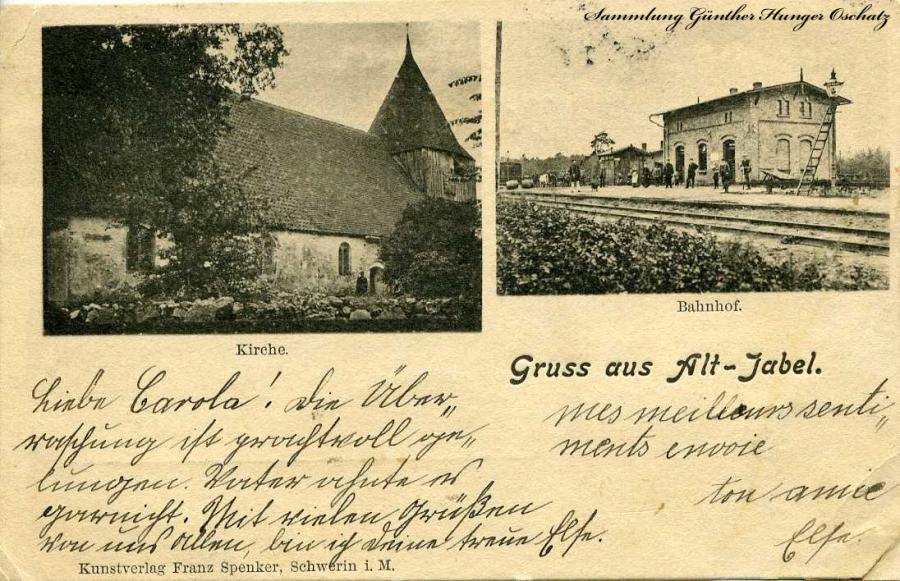 Gruss aus Alt-Jabel 1905