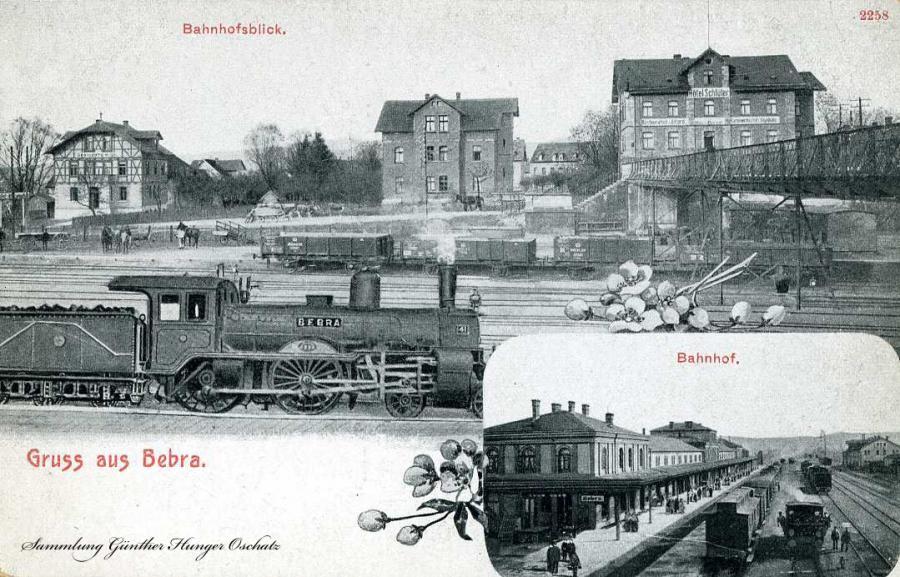Gruss aus Bebra Bahnhofsblick Bahnhof