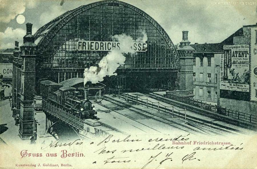 Gruß aus Berlin Bahnhof Friedrichsstrasse