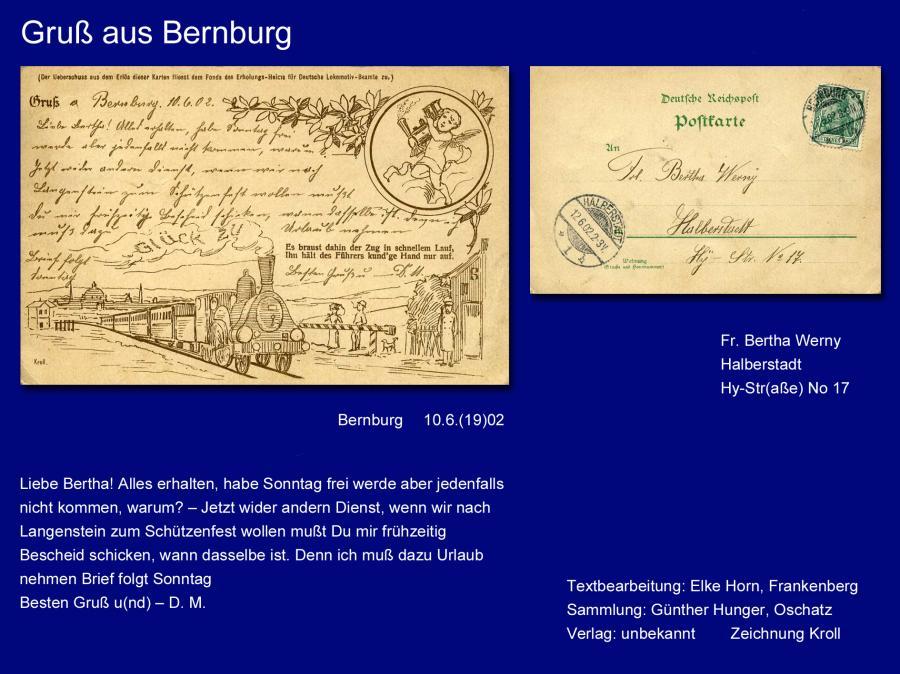 Gruß aus Bernburg