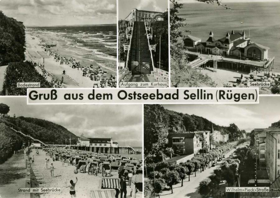 Gruß aus dem Ostseebad Sellin 1961