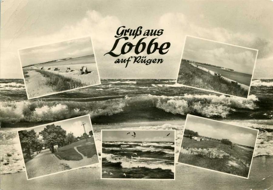 Gruß aus Lobbe auf Rügen 1967