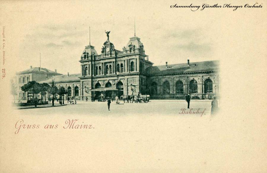 Gruss aus Mainz Bahnhof