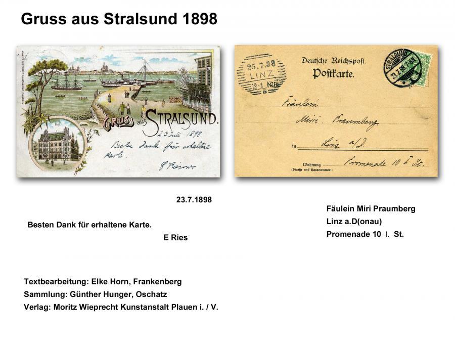 Gruss aus Stralsund 1898