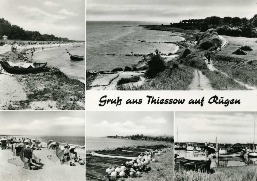 Gruß aus Thiessow auf Rügen 1968