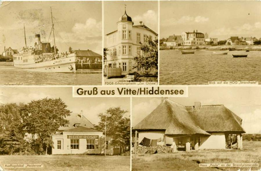 Gruß aus Vitte / Hiddensee 1958