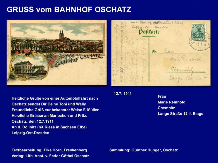 GRUSS vom BAHNHOF OSCHATZ