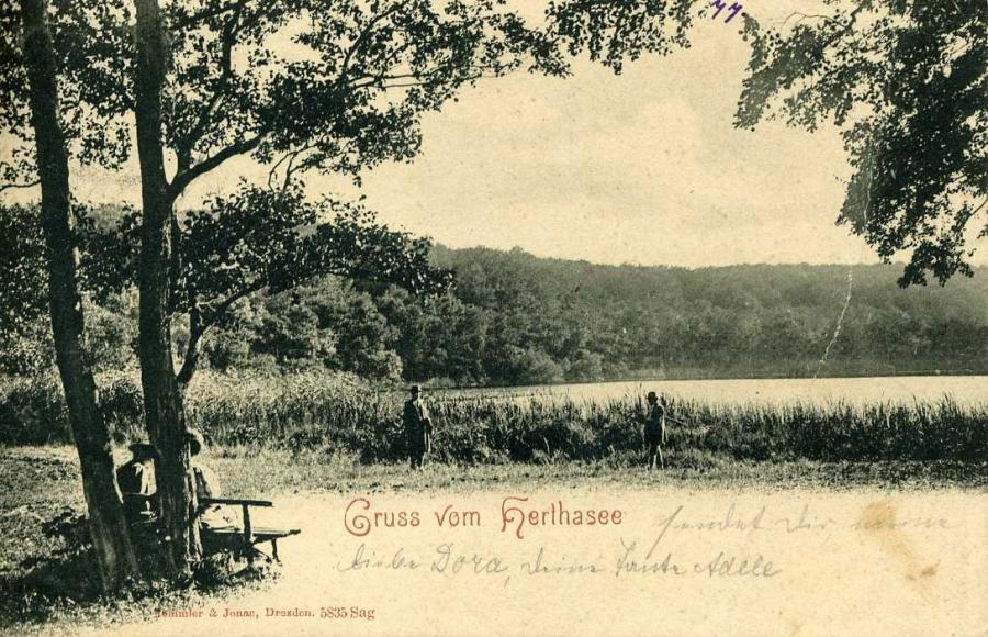 Gruss vom Herthasee 1903
