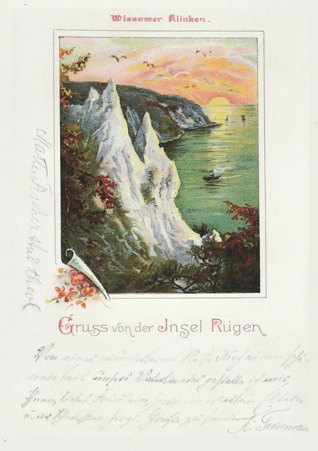 Gruss von der Insel Rügen Wissower Klinken