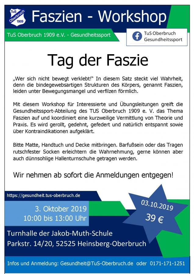 GS Plakat Faszien Workshop