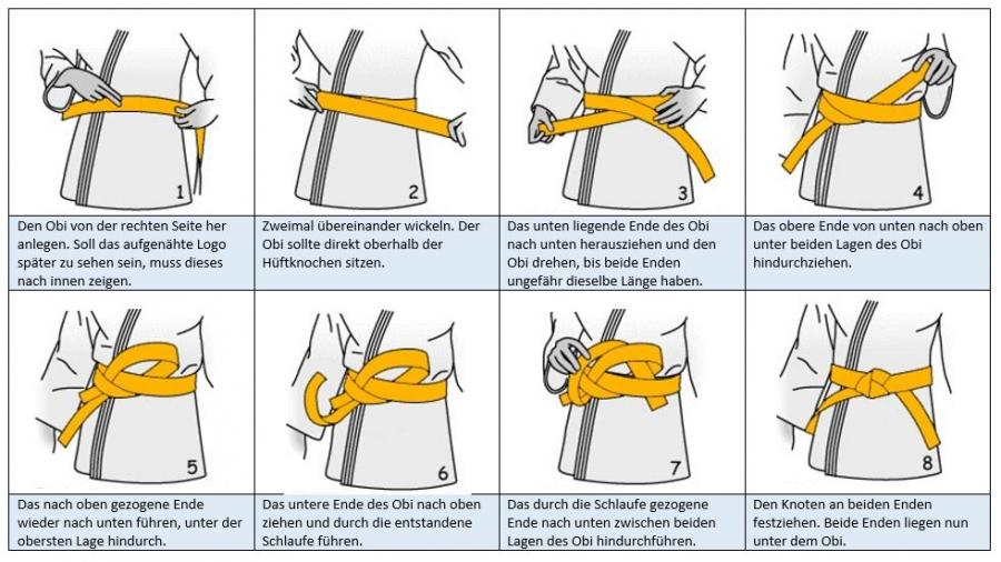 How to tie a belt in karate
