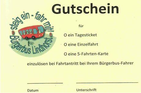 Gutschein Bürgerbus