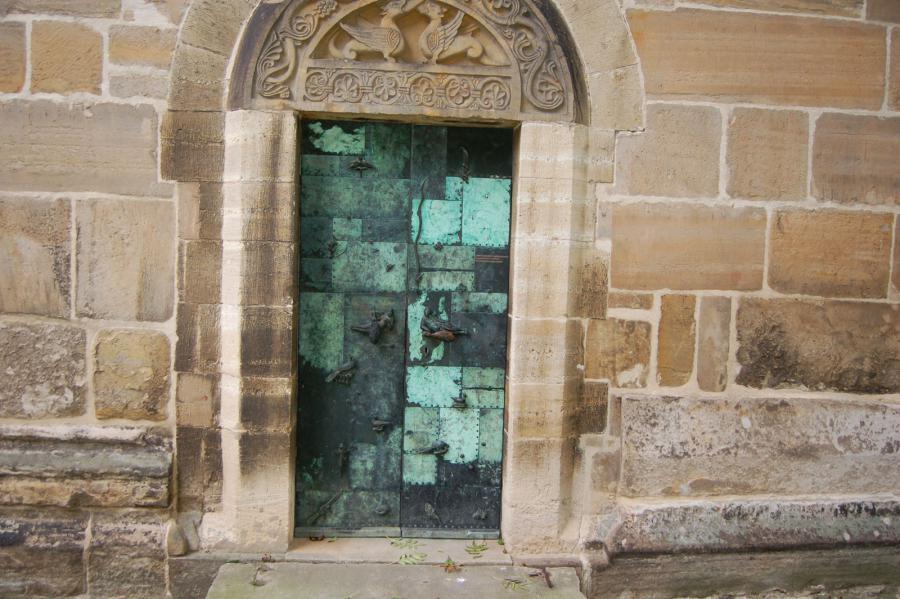 Eingangsbereich Kirche St. Pankratius Hamersleben