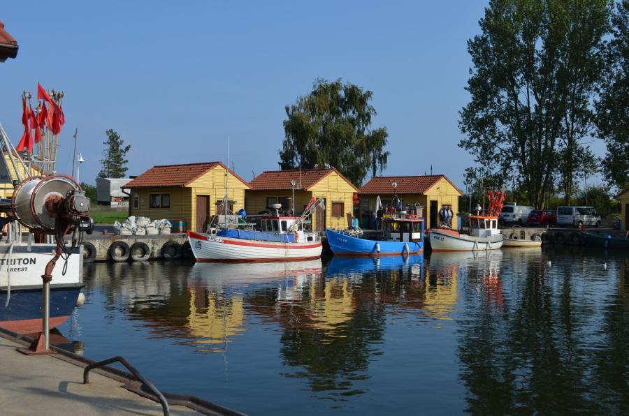 Fischerhafen in Freest