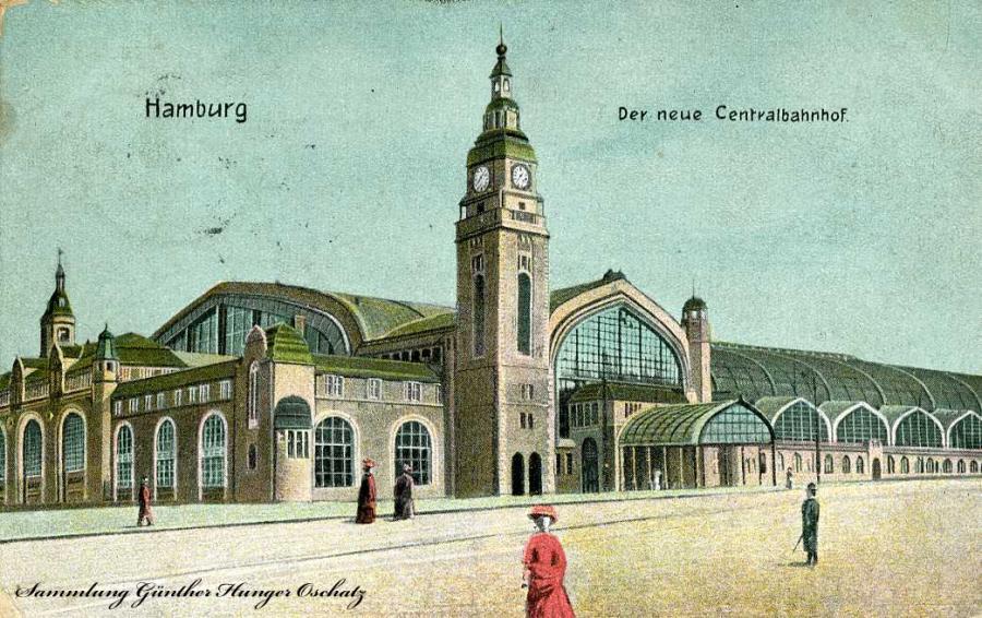 Hamburg  Der neue Centralbahnhof 1907