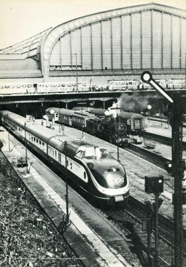 Hamburger Hauptbahnhof im Jahre 1958