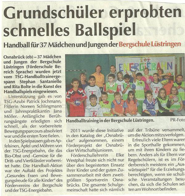 Pressemeldung: Handball