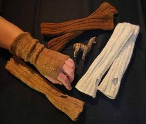 Handgelenkwärmer aus Alpakawolle