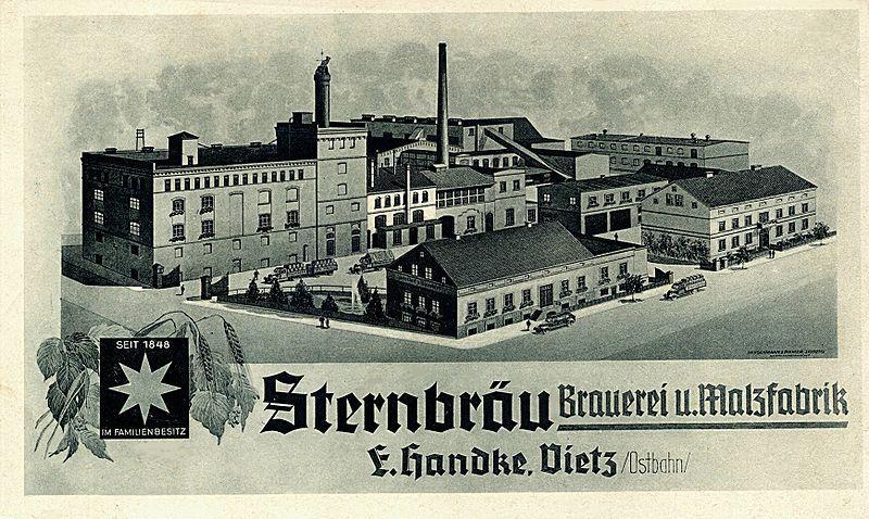 Sternbräu Brauerei & Malzfabrik Ernest Handke in Vietz/Ostbahn