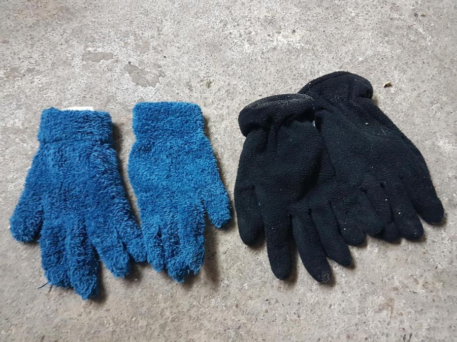 handschuh blau schwarz