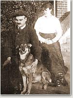Hans Grade mit Frau und Hund