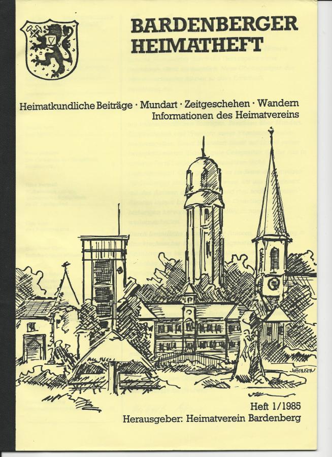 Titelseite Heft 1/1985