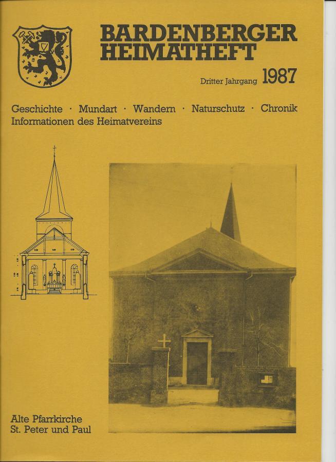 Titelseite Heft 3/1987