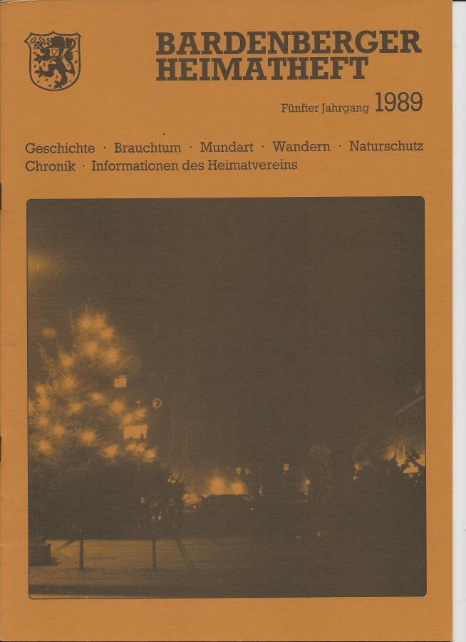 Titelseite Heft 5/1989