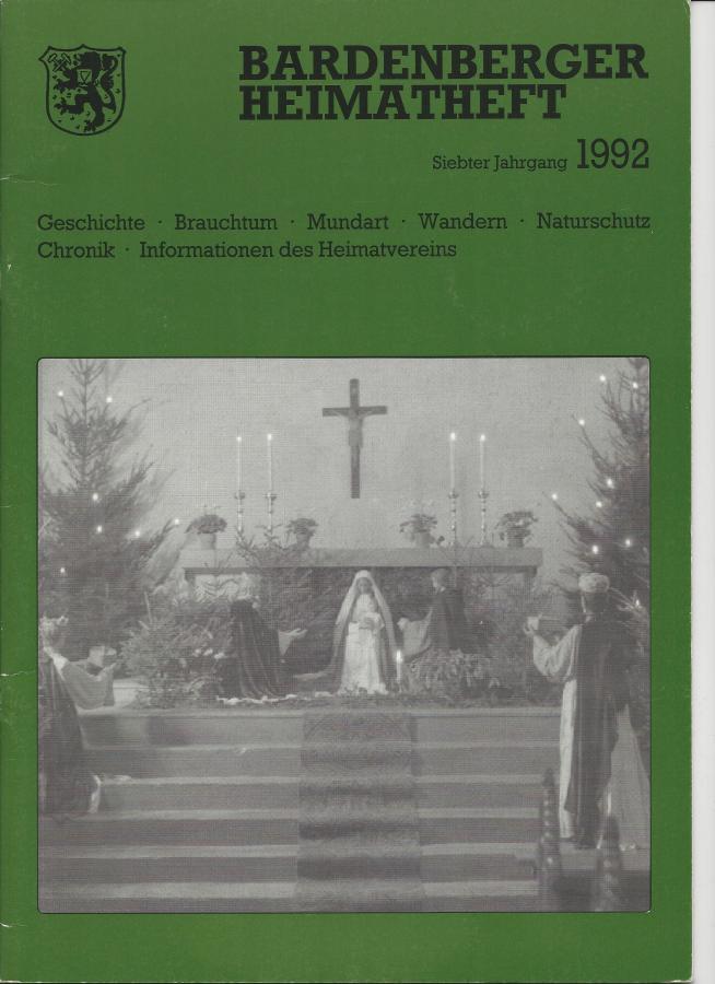 Titelseite Heft 7/1992