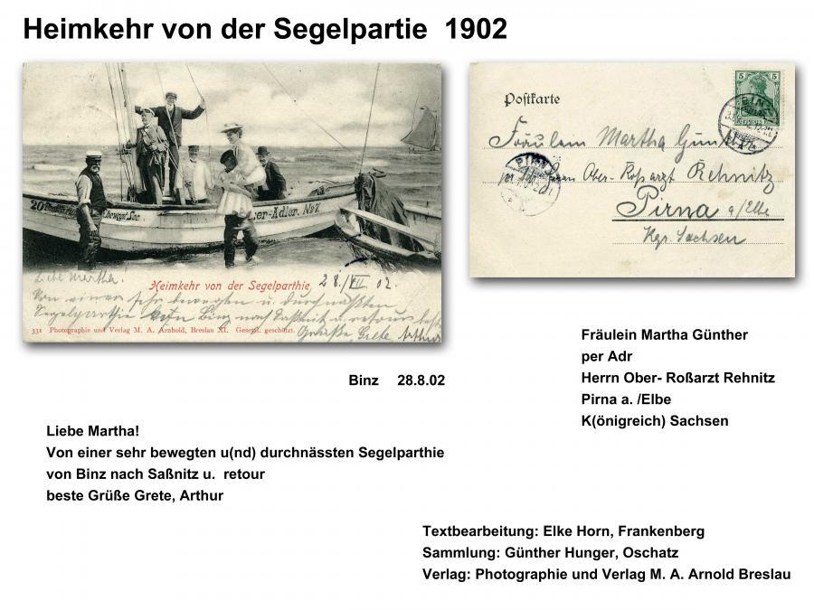 Heimkehr von der Segelpartie 1902