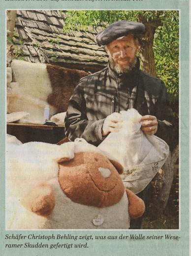 wo bleibt die Skudden-Wolle (Foto & Text: Matthias Busse)