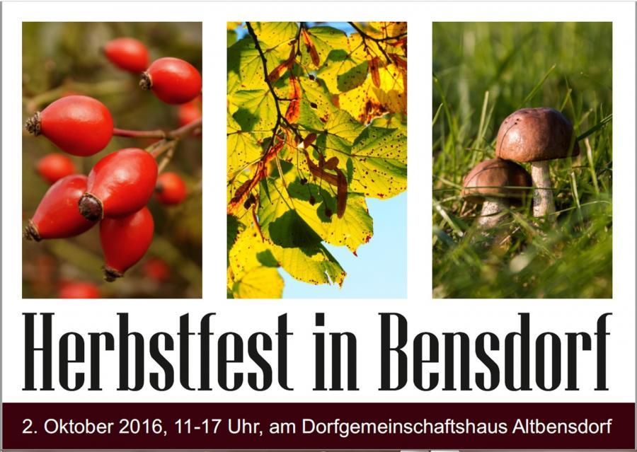 Herbstfest in Bensdorf