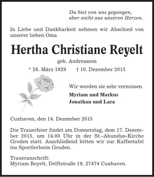 Herta Christiane Reyelt
