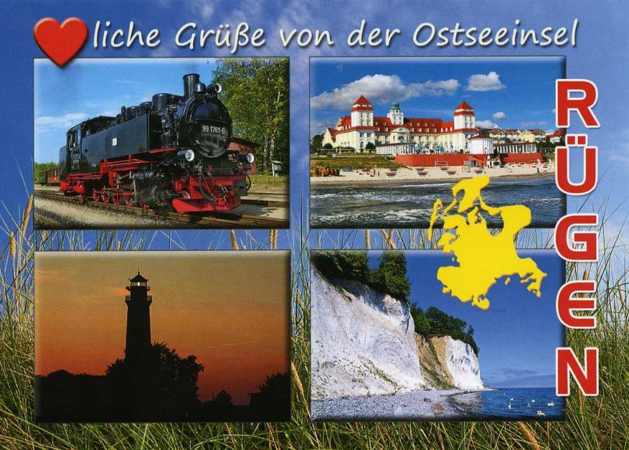 Herzliche Grüße von der Ostseeinsel Rügen