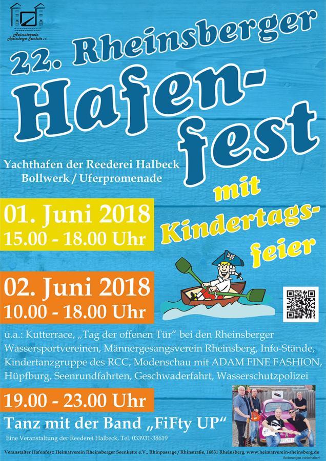22. Rheinsberger Hafenfest 2018