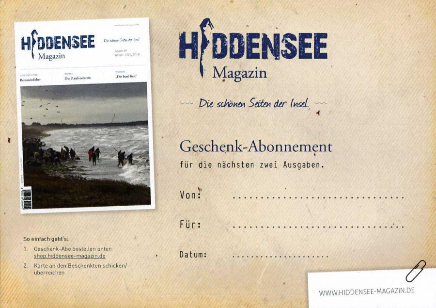 Hiddensee Werbekarte