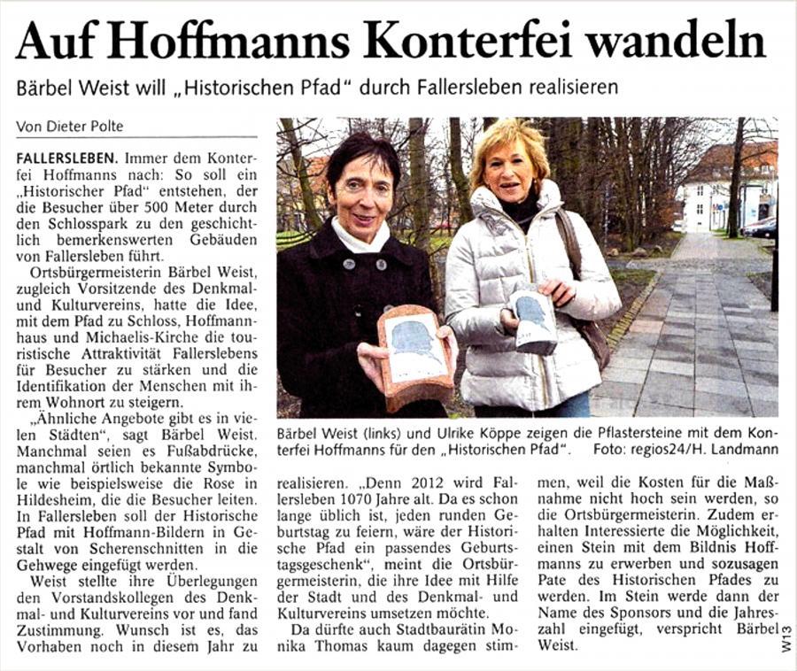 Historischer Pfad mit Hoffmann-Silhoutte
