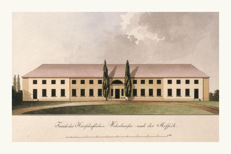 Schloss Paretz im Paretzer Skizzenbuch 1811