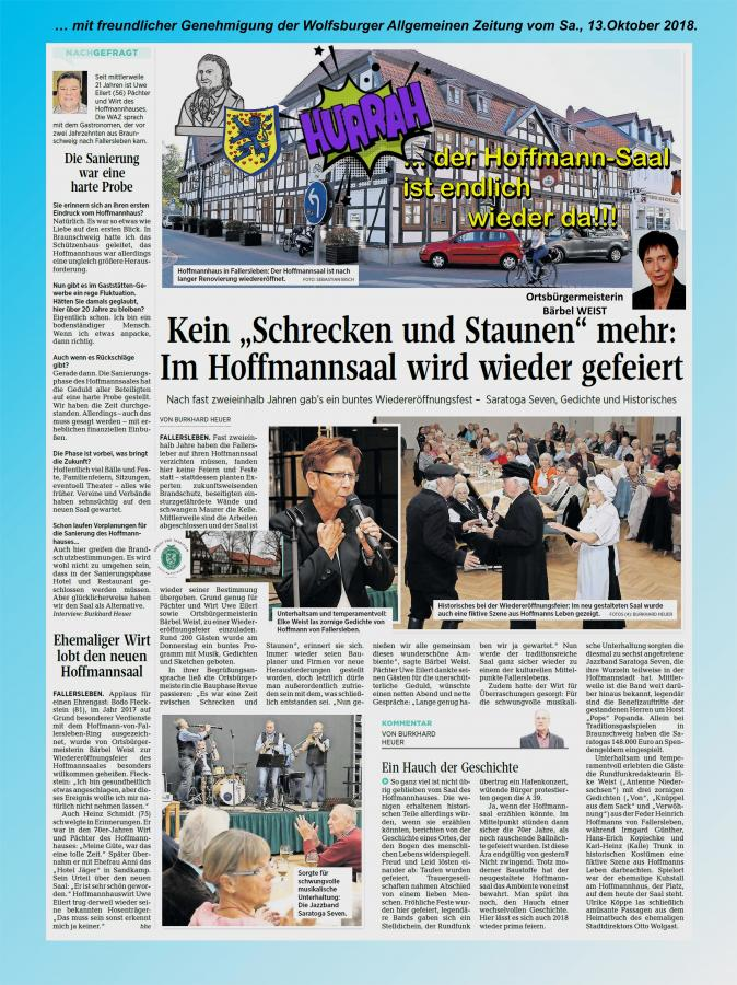 Eröffnung Hoffmann-Saal Fallersleben