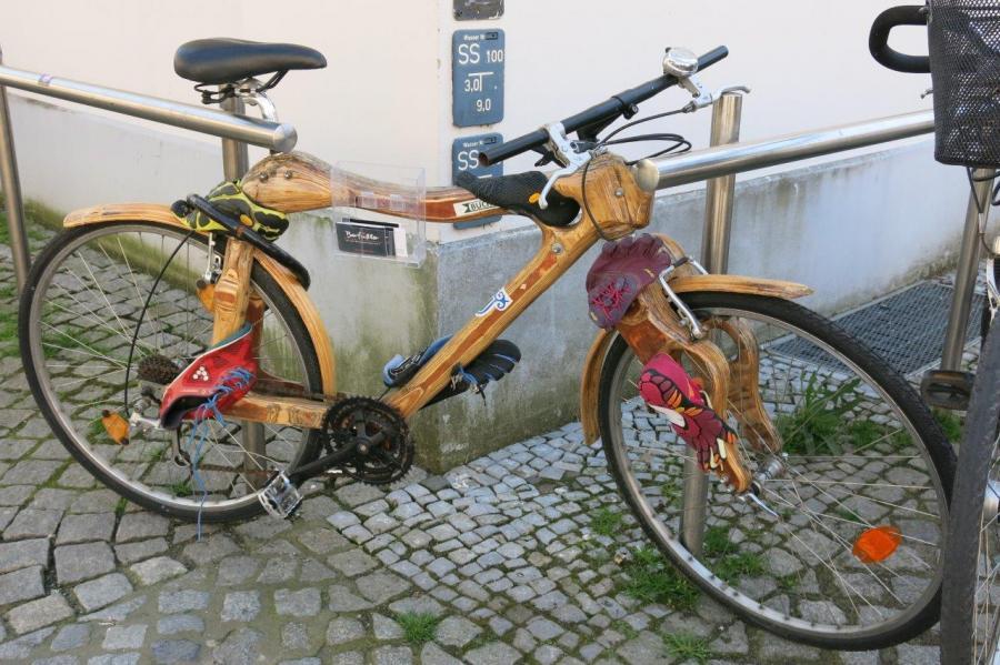 Ein Rad ganz aus Holz!