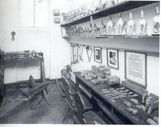 ehemaliger Ausstellungsraum Holzstabweberei 1989