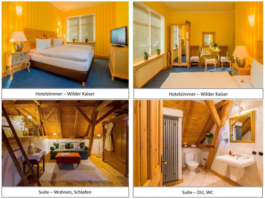 Hotelzimmer Wilder Kaiser und Suite