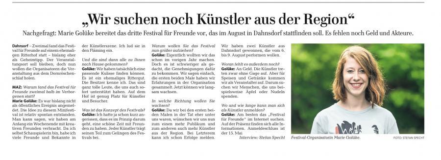 Märkische Allgemeine Juli 2015
