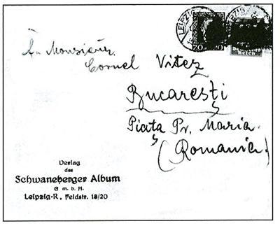 Brief des o. g. Verlags vom 16.01.1925 nach Bukarest