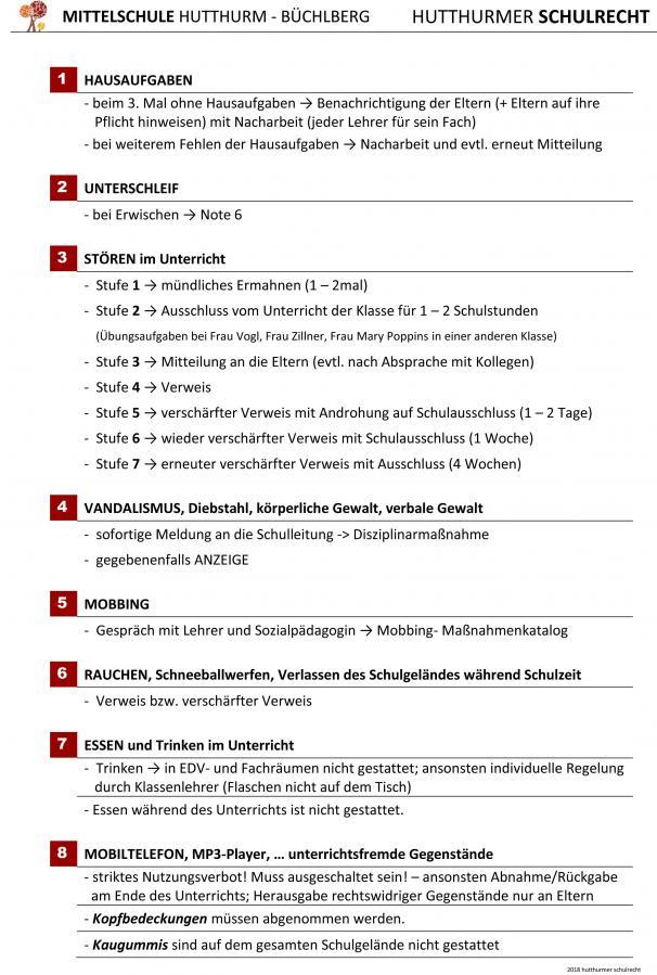 Hutthurmer Schulrecht 2018