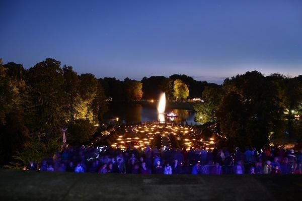 Der BLick in den Park. Foto: Reik Schröder