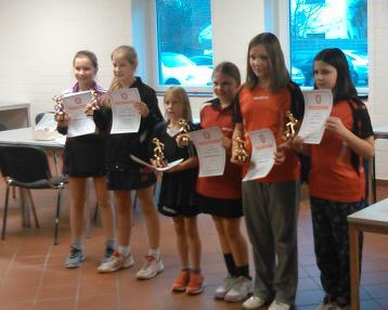 Siegerehrung Schülerinnen C (KMS 2015)